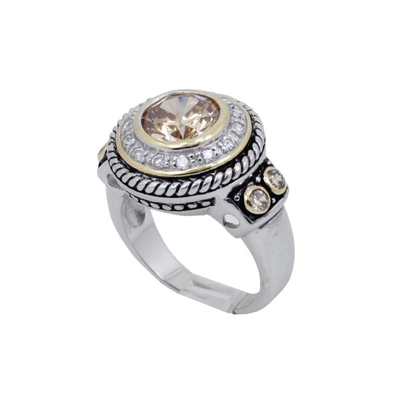 Ladies .925 Italian Sterling Silver Spring Citrine