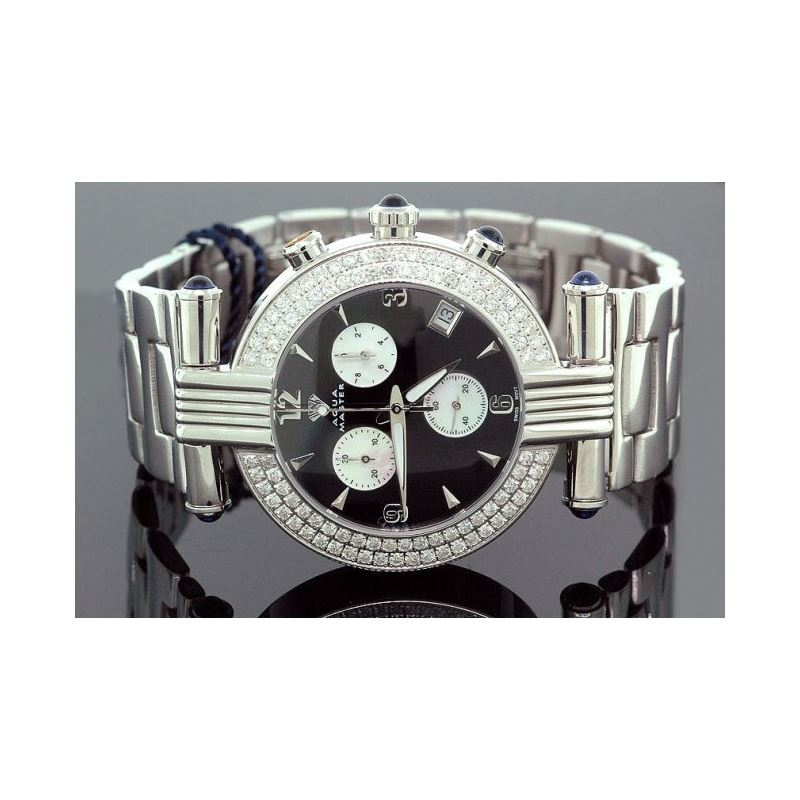 Unisex Aqua Master Diamond Watch 3.25 ct 28053 1