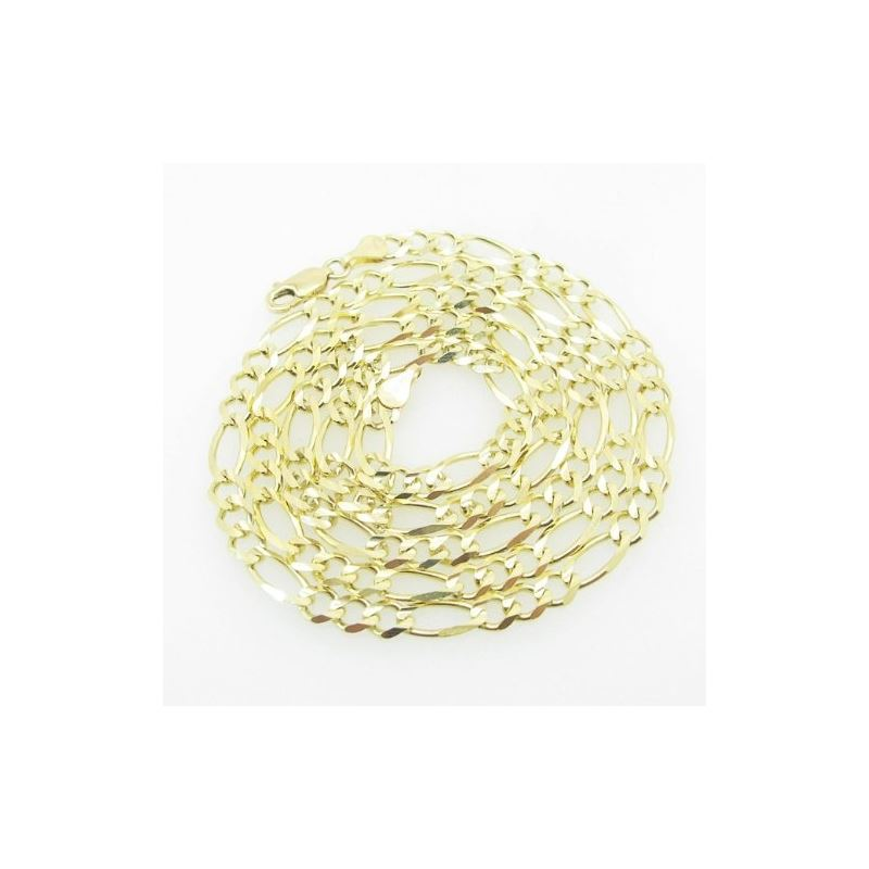 Mens Yellow-Gold Figaro Link Chain Lengt 79199 1