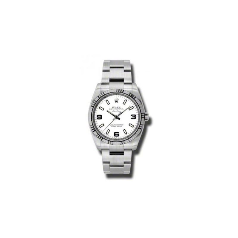 Rolex Watches  AirKing White Gold Fluted 54041 1