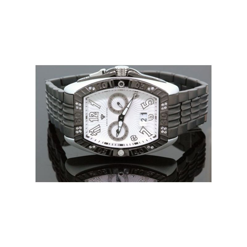 Aqua Master Tonneau 0.50ctw Mens Diamond Watch W31