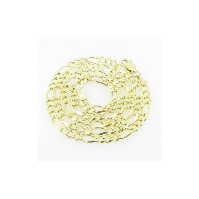 Mens Yellow-Gold Figaro Link Chain Lengt 79143 1