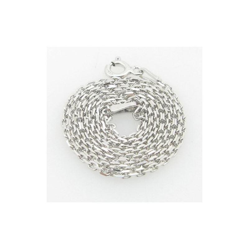 Ladies .925 Italian Sterling Silver Rolo Link Chai