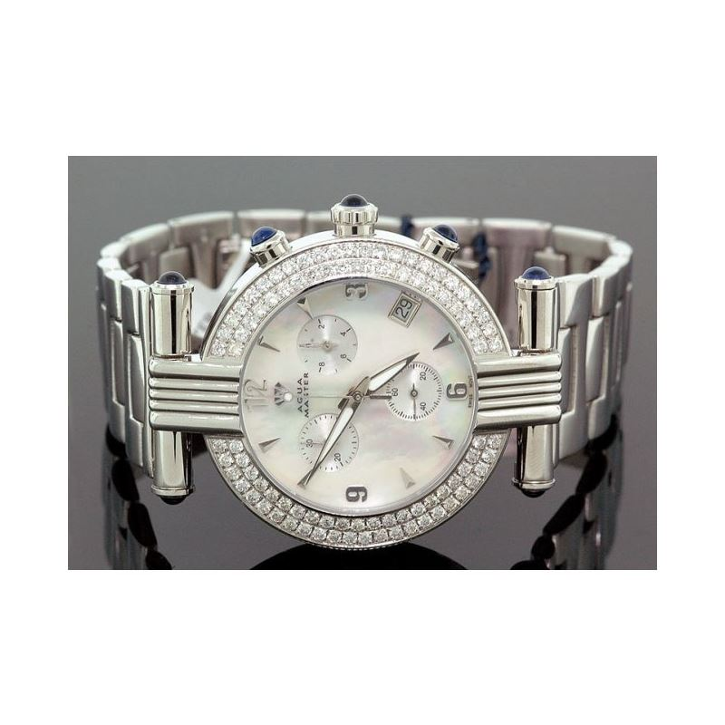 Unisex Aqua Master Diamond Watch 3.25 ct w-93b