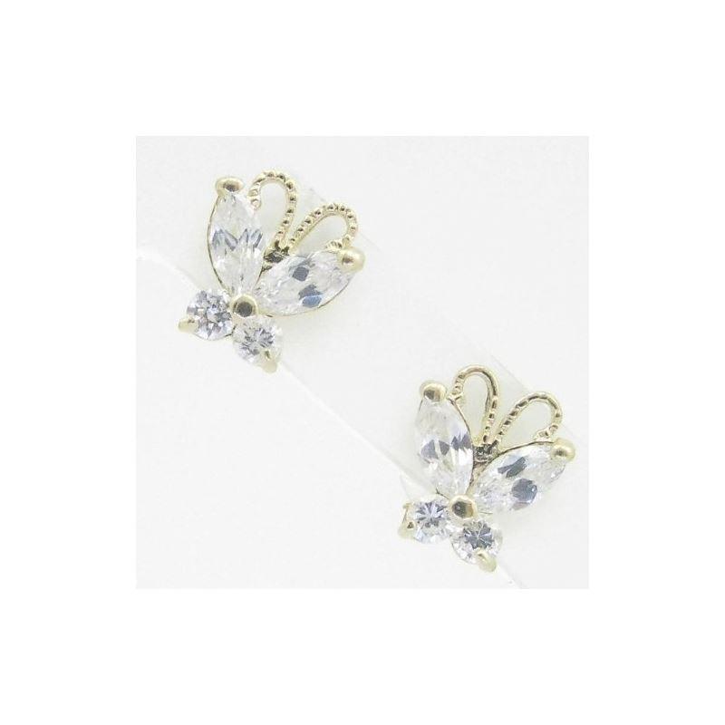 14K Gold Earrings heart star flower dolphin pengui