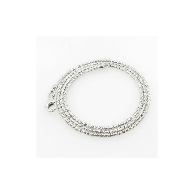 Ladies .925 Italian Sterling Silver Snake Link Cha