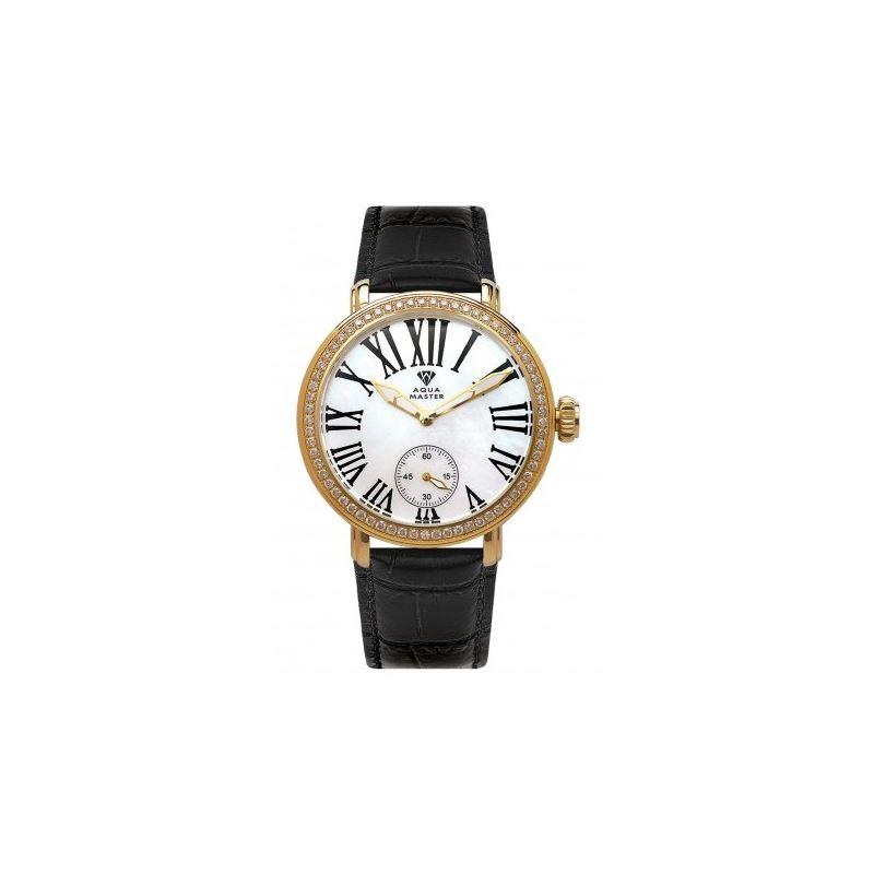 Aqua Master Mechanical Diamond Watch Black Band