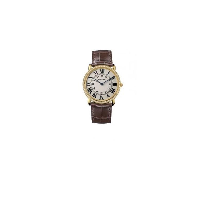 Cartier Ronde Louis Mens Gold Watch WR000451