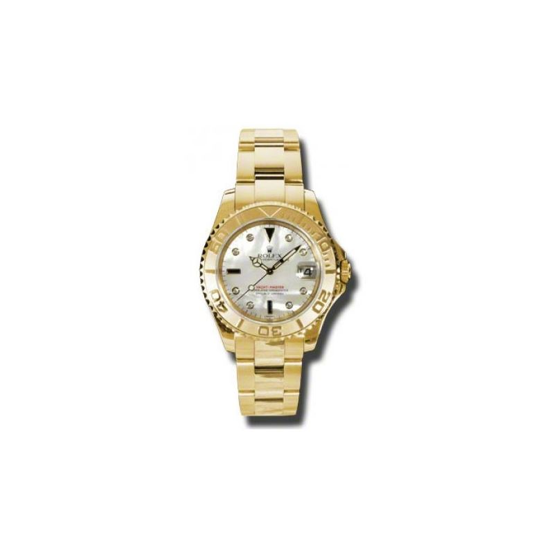 Rolex Watches  YachtMaster MidSize Gold 168628 md