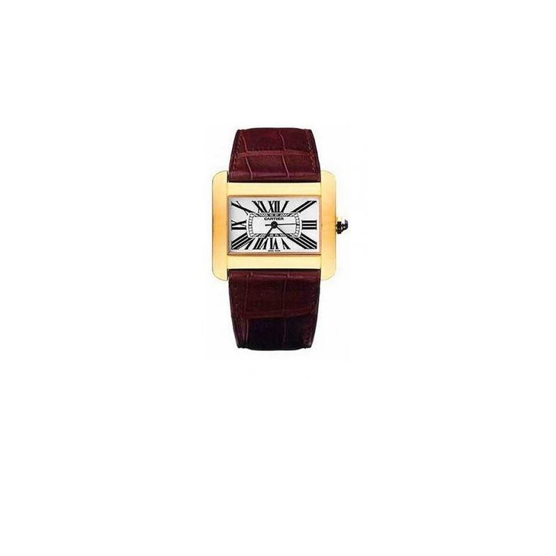 Cartier Tank Divan 18kt Yellow Gold Ladies Watch W