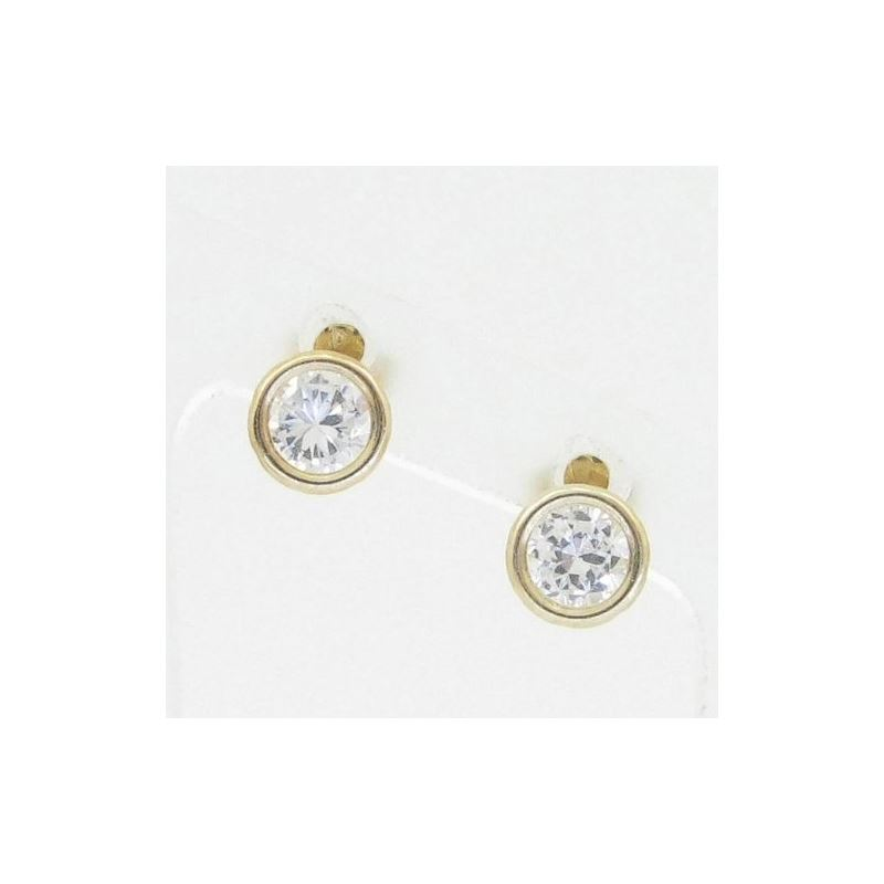 Unisex 14K solid gold earrings fancy stu 81596 1