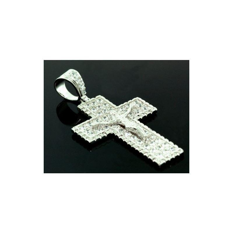 .925 Sterling Silver Men Crystal Stone M 58541 1