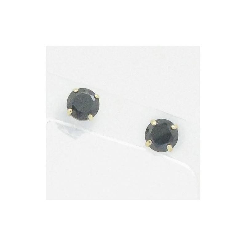 Unisex 14K solid gold earrings fancy stu 82301 1