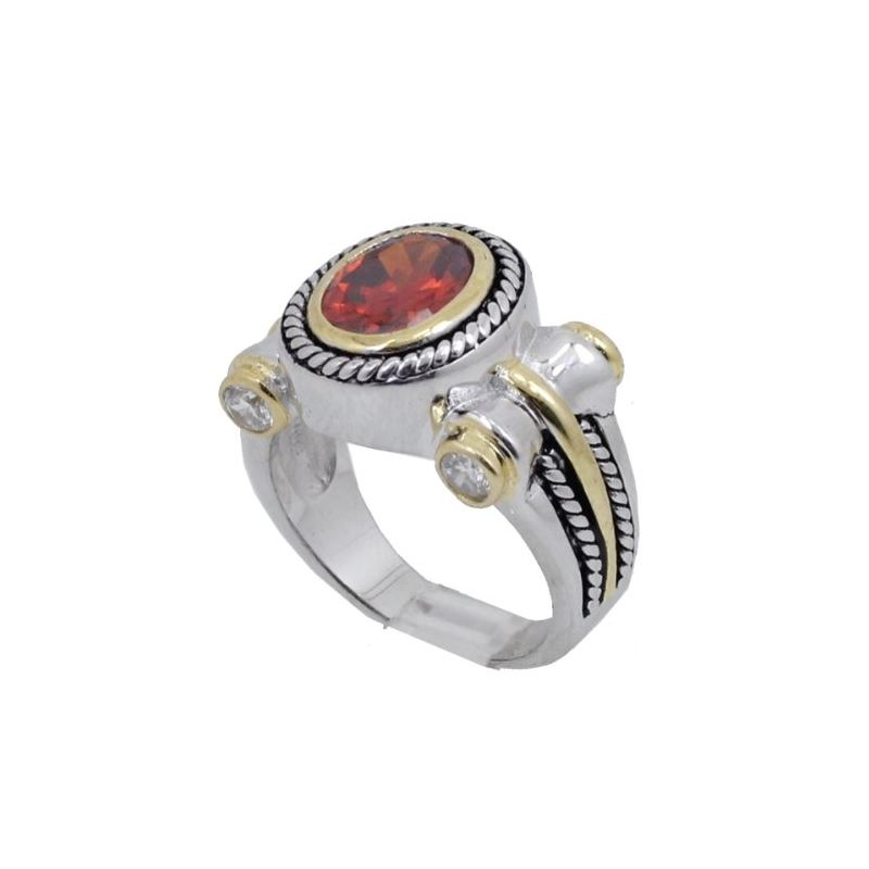 Ladies .925 Italian Sterling Silver Ruby 74193 1