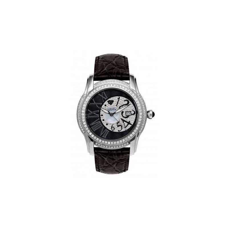 Aqua Master Mens Dual Time Diamond Watch 6-2