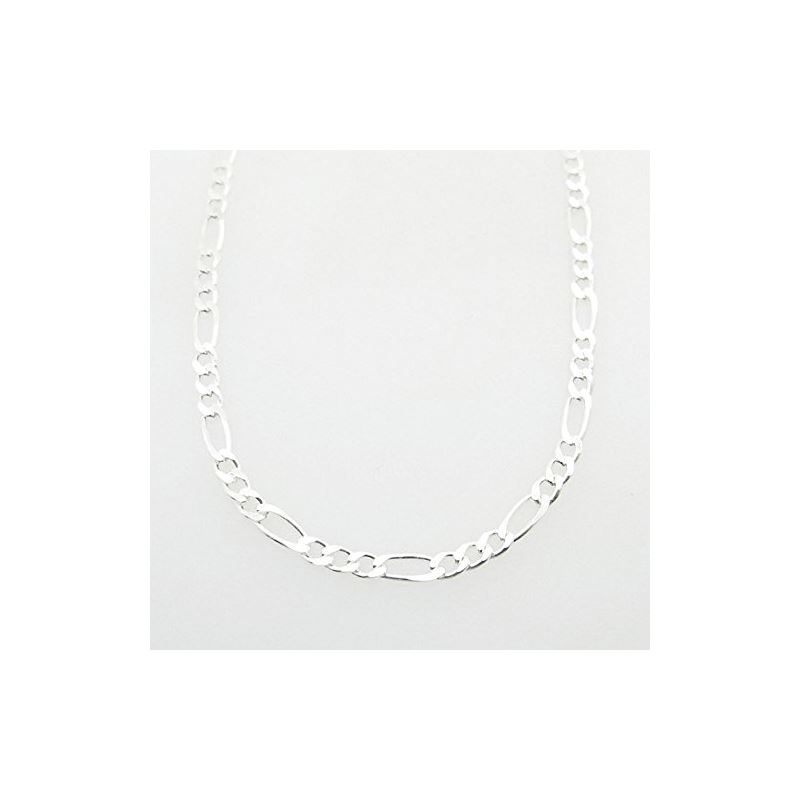 Silver Figaro link chain Necklace BDC73