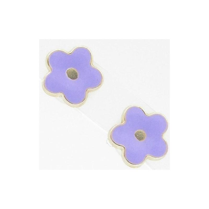 14K Gold Earrings heart star flower dolp 64048 1