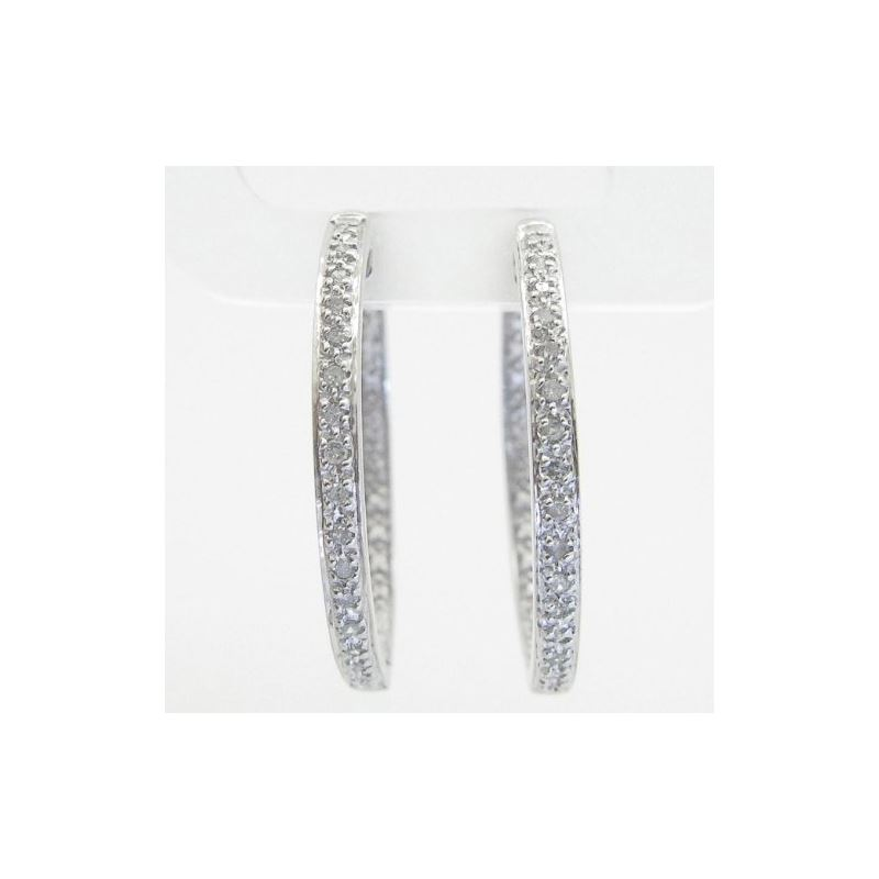 Ladies 925 Sterling Silver earrings fanc 74935 1