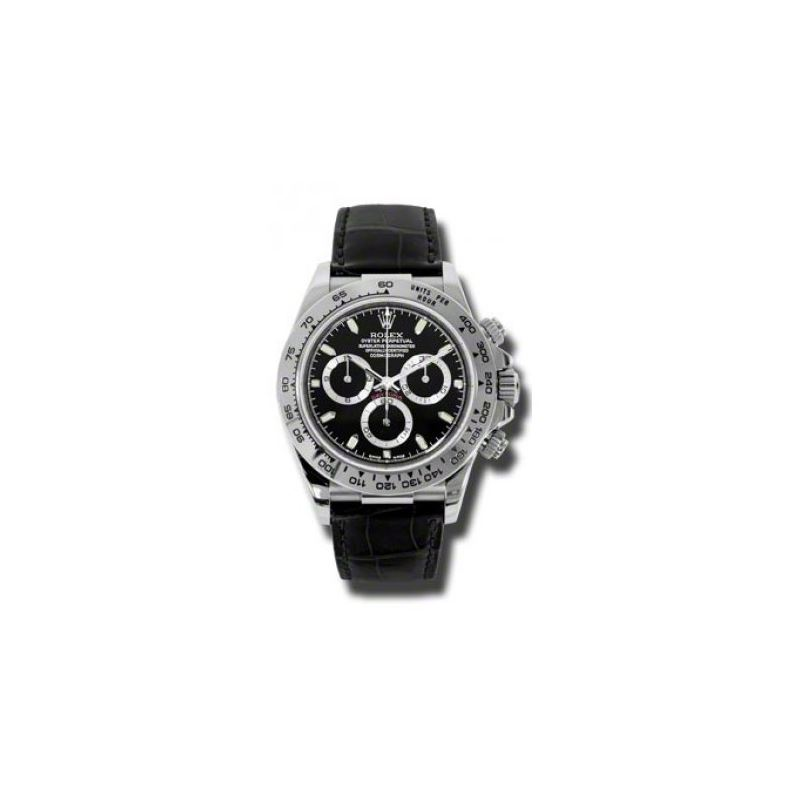 Rolex Watches  Daytona White Gold  Leather Strap 1