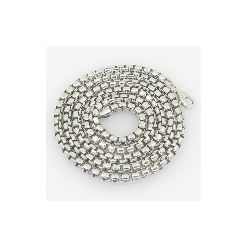 Unisex Italian sterling silver franco box ball whe