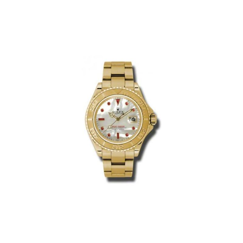Rolex Watches  YachtMaster Mens Gold 16628 mop