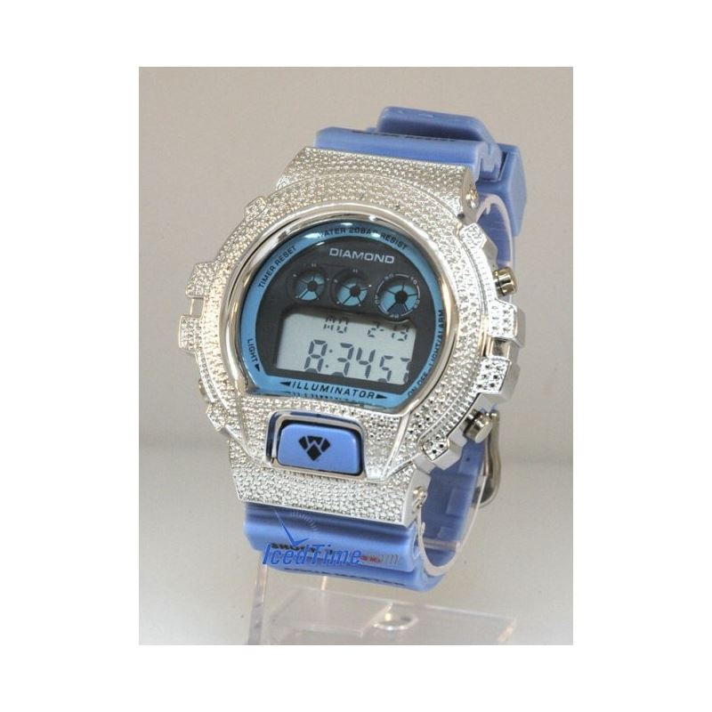 Aqua Master Shock Diamond Mens White Watch gd5