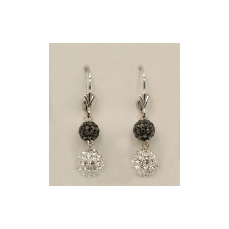 Designer Pave Disco Ball Dangle Sterling 73027 1