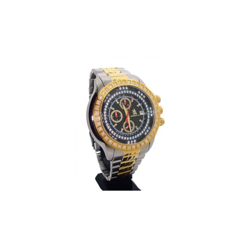 Richard  Company Diamond Watch Two Tone Yellow 1.0