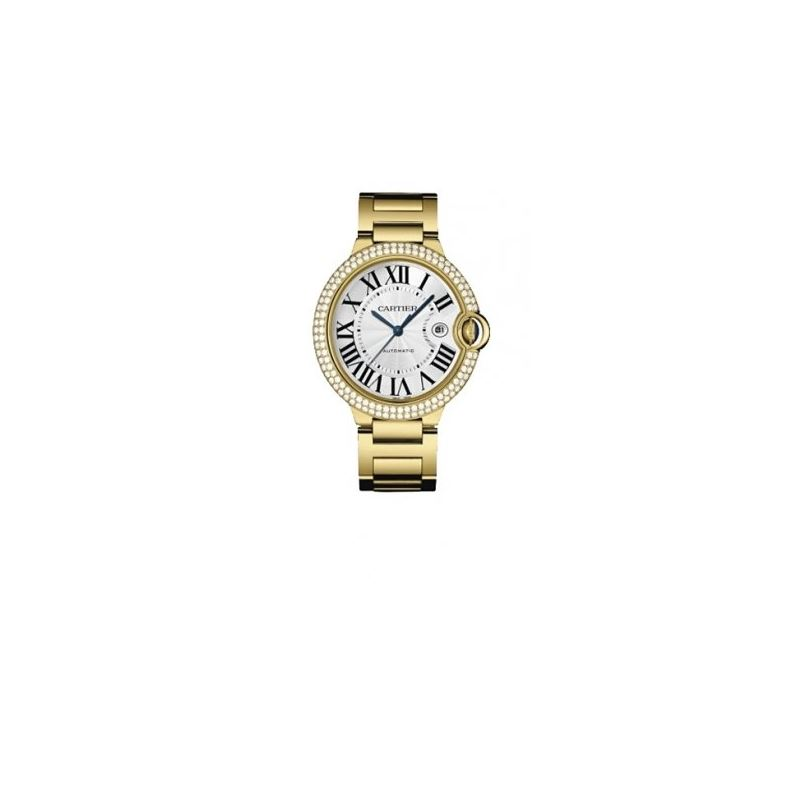 Cartier Ballon Bleu Mens Gold Watch WE9007Z3