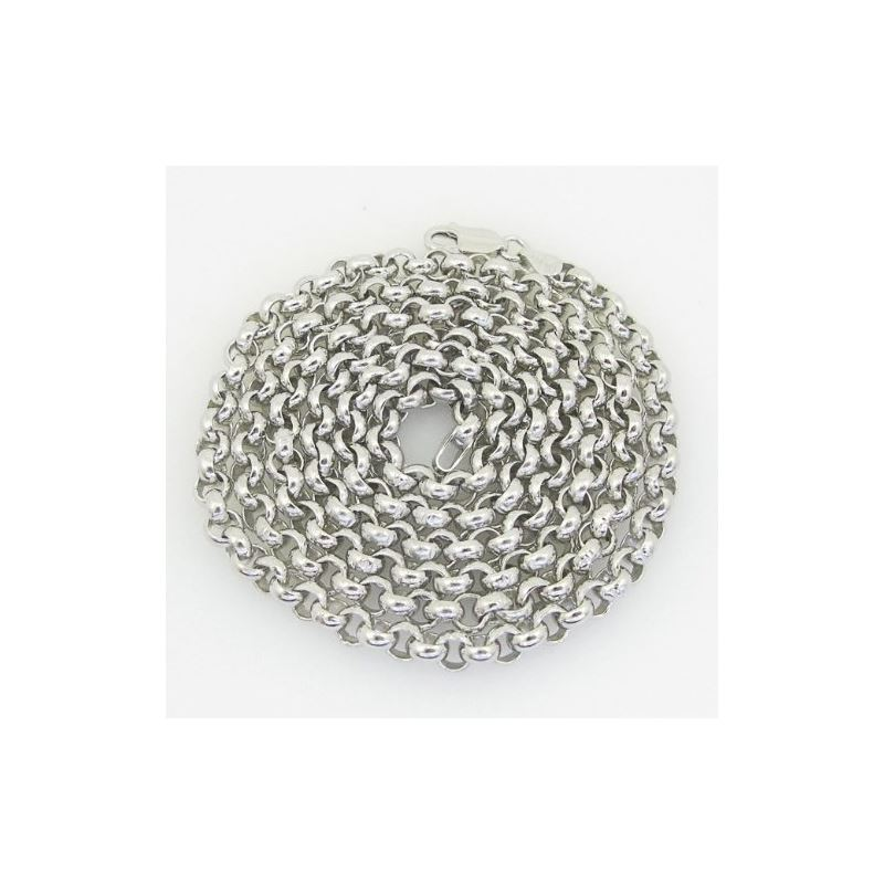 Mens .925 Italian sterling silver franco box ball