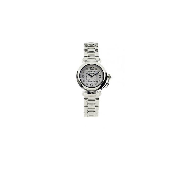 Cartier Pasha 18kt White Gold Diamond Ladies Watch