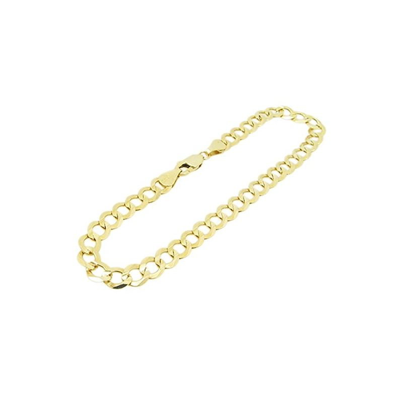 Mens 10k Yellow Gold figaro cuban mariner link bra