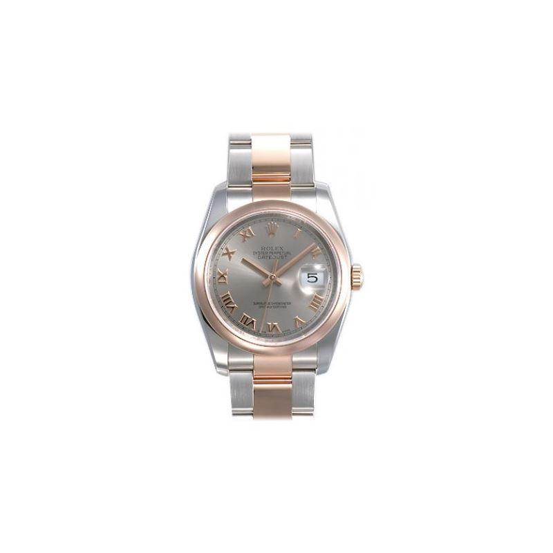Rolex Datejust Silver Roman Dial Oyster Bracelet T