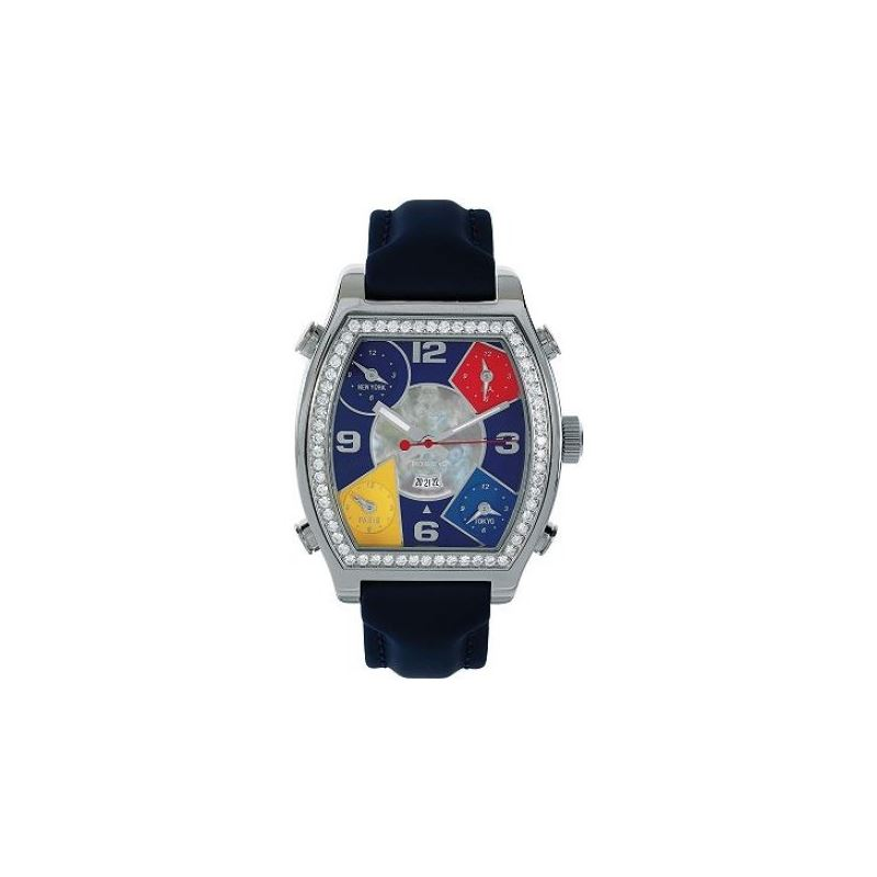 Jacob  Co 5 Time Zone 3.25Ct Watch JCS2