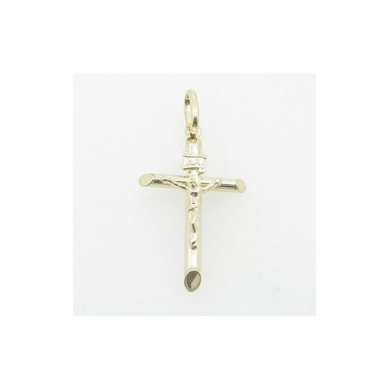Mens 10K Yellow Gold Jesus Cross Length - 1.22 Inc