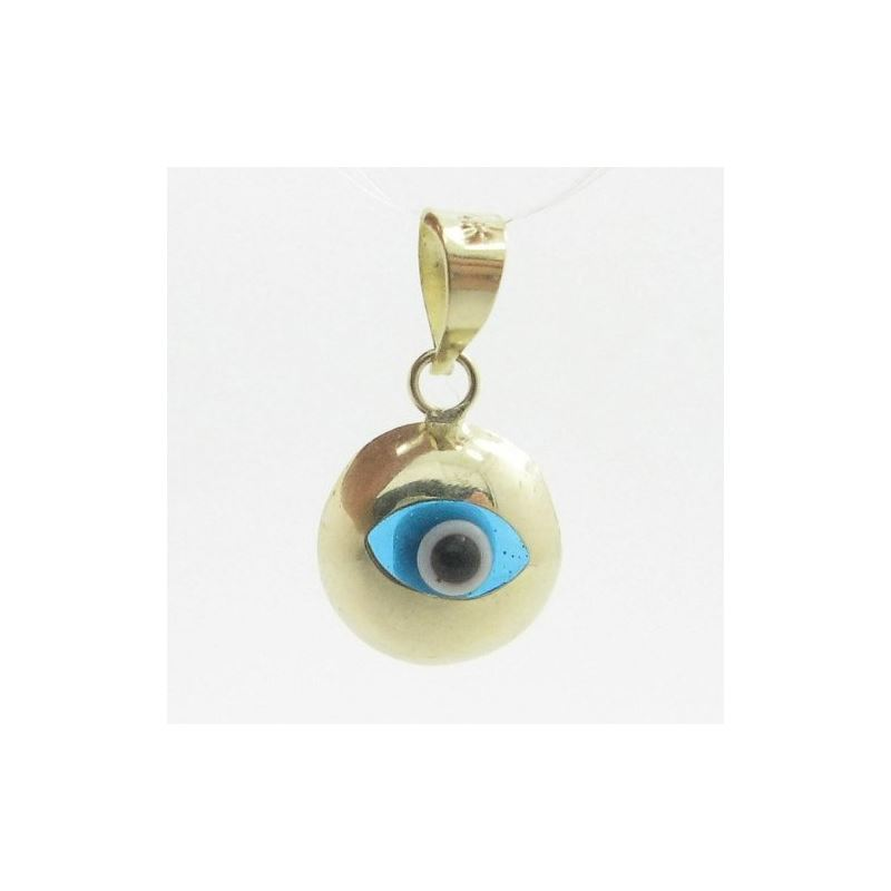 Womens bp6 kabbalah evil eye 14k solid yellow gold