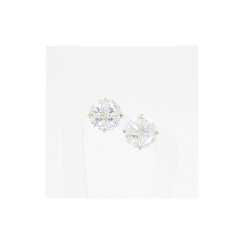 Unisex 14K solid gold earrings fancy stu 81652 1