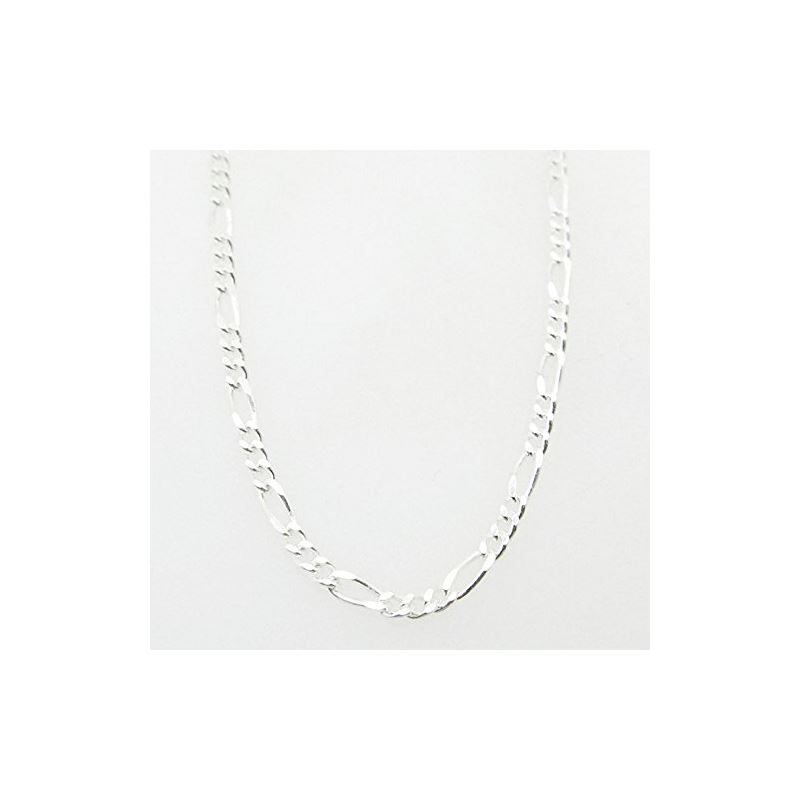 Silver Figaro link chain Necklace BDC63