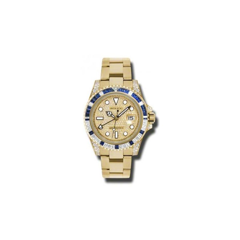 Rolex Watches  GMTMaster II Gold 116758SA pave