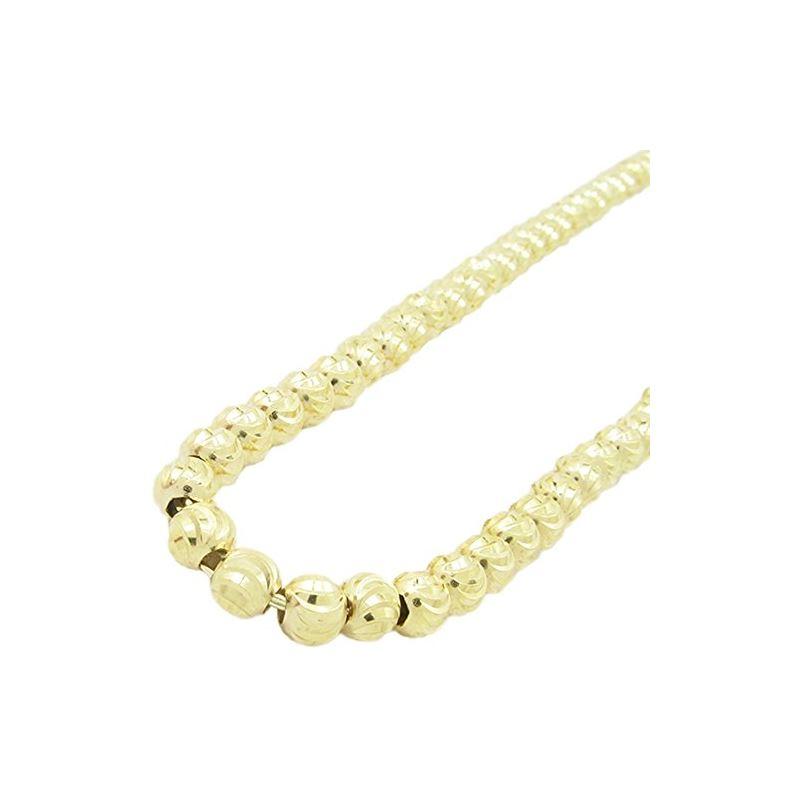Mens 10k Yellow Gold moon cut bead link  77804 1