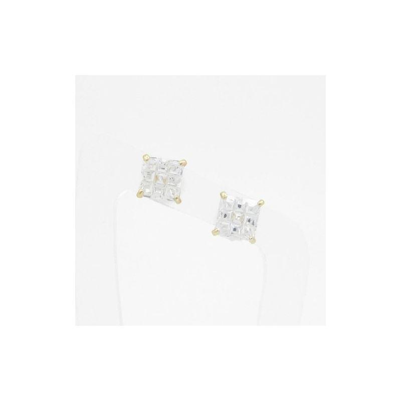 Unisex 14K solid gold earrings fancy stu 81554 1