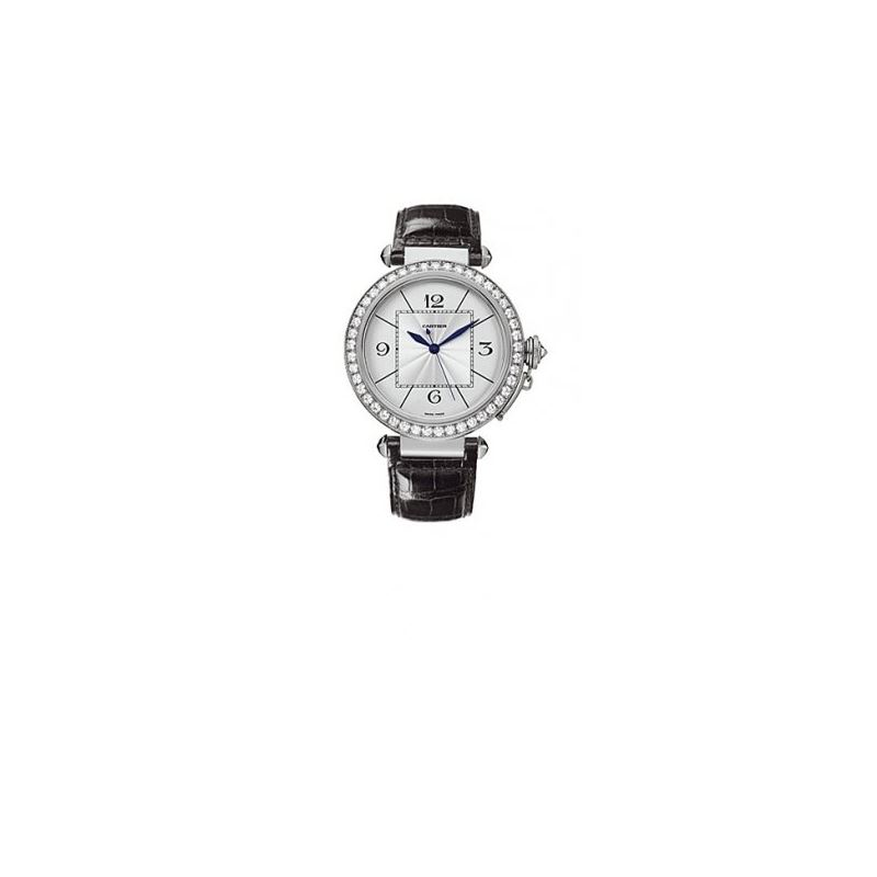 Cartier Pasha Diamond 18kt White Gold Mens Watch W