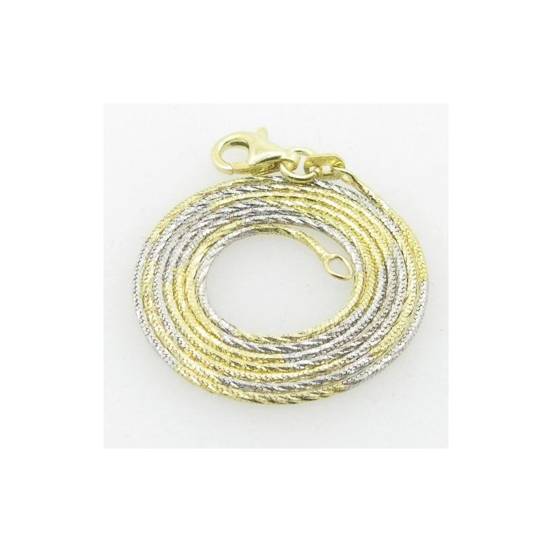 Ladies .925 Italian Sterling Silver Two Tone Snake