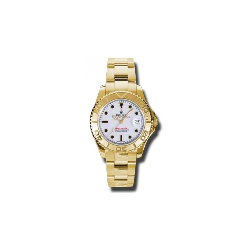 Rolex Watches  YachtMaster MidSize Gold 168628 w