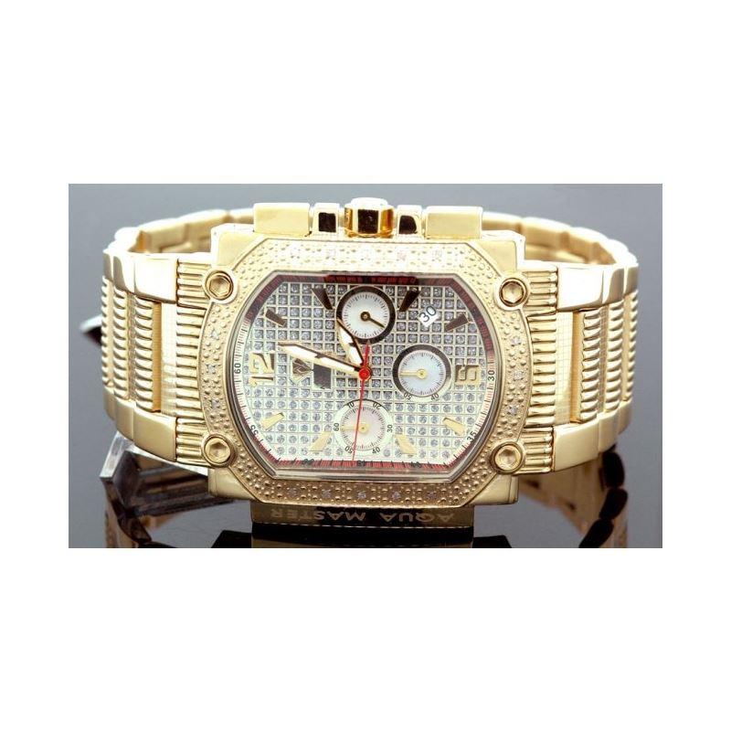 Agua Master 0.16ctw Mens Diamond Watch w323BA