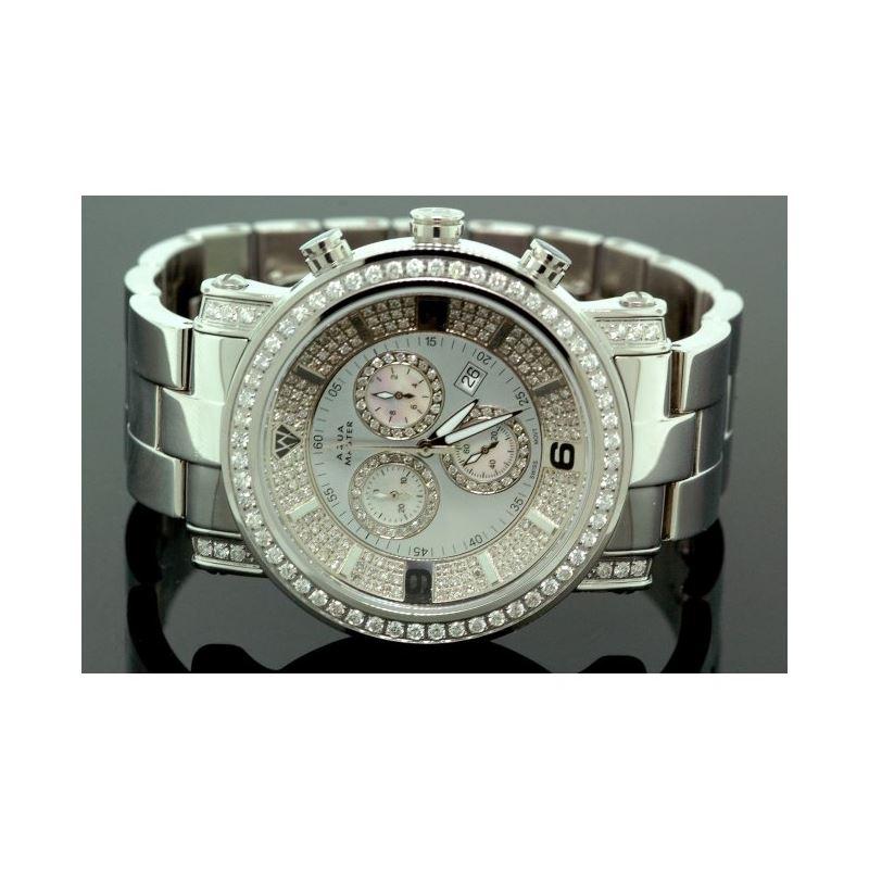 Aqua Master Diamond Mens Watch 3.60ct w104c