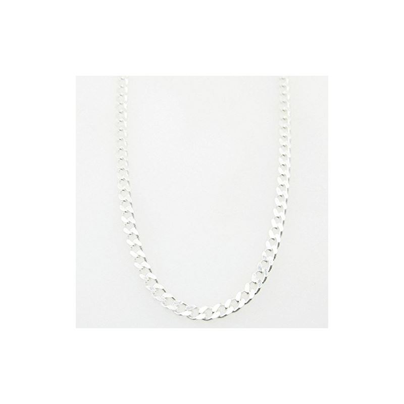 Silver Curb link chain Necklace BDC64 79516 1