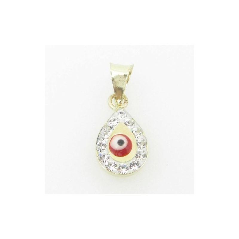 Womens BP122 Kabbalah Evil Eye 14K Solid Yellow Go