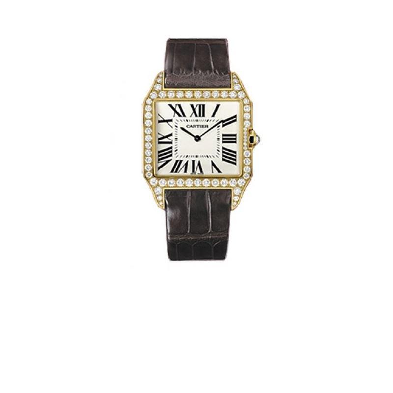 Cartier Santos-dumont Large Solid Gold Mens Watch
