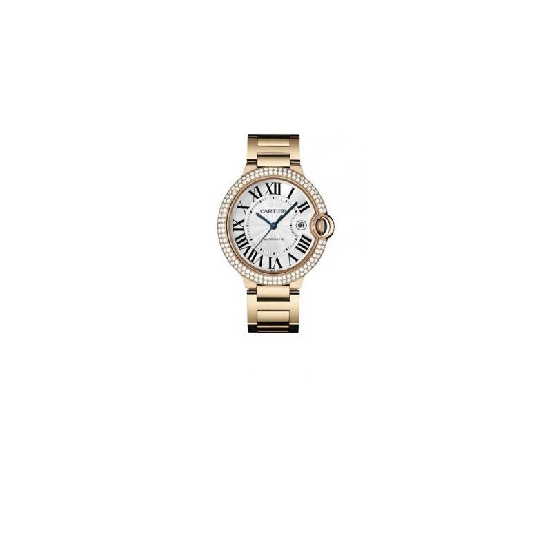 Cartier Ballon Bleu Mens Gold Watch WE9008Z3